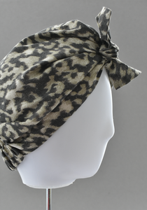 Ladies Turban Hat - Liberty of London Fantasitc Animal print - Tot Knots of Brighton