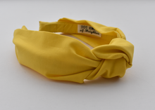 Ladies Tot Knot Alice band - Liberty of London Bright Yellow-Adult hairband-Tot Knots of Brighton