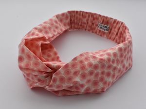 Ladies Twisted Turban Headband - Liberty of London Pink Floral - Tot Knots of Brighton