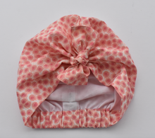 Ladies Turban Hat - Liberty of London Pink Floral print - Tot Knots of Brighton