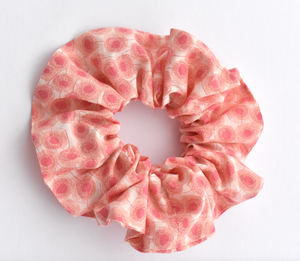 Scrunchie - Liberty of London Pink Floral - Tot Knots of Brighton