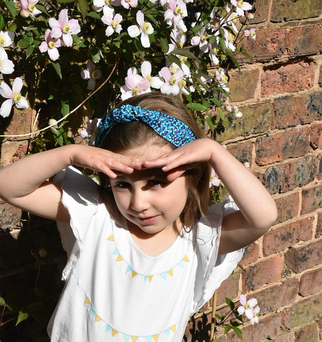 Kids Tot Knot Alice band - Liberty of London Mayhaze print - Tot Knots of Brighton
