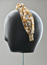 Ladies Tot Knot Alice band - Liberty of London Mustard Floral print-Adult hairband-Tot Knots of Brighton