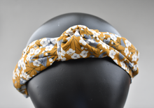 Ladies Tot Knot Alice band - Liberty of London Mustard Floral print