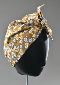Ladies Turban Hat - Liberty of London Yellow Mustard Floral