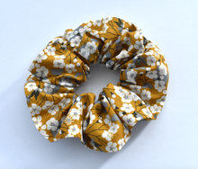 Scrunchie - Liberty of London Yellow Mustard Floral print