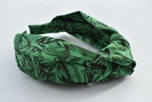 Kids Tot Knot Alice band - Liberty of London Kit Green print