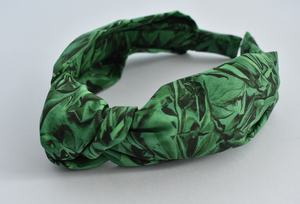 Kids Tot Knot Alice band - Liberty of London Kit Green print-Children hairband-Tot Knots of Brighton