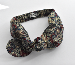 Kids Tot Knot Tie hairband - Liberty of London Bourton Paisley print