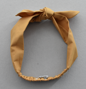 Kids Tot Knot Tie hairband - Liberty of London Yellow Mustard