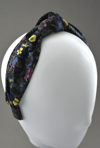Ladies Tot Knot Alice band - Liberty of London Black Wild Flowers