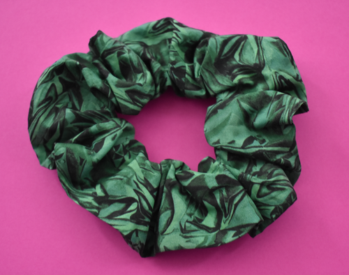 Green Kit Liberty print Scrunchie