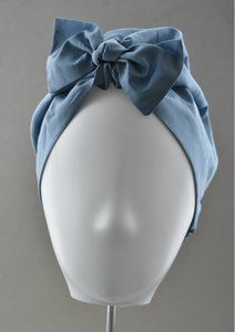 Ladies Turban Hat - Liberty of London Airforce Blue