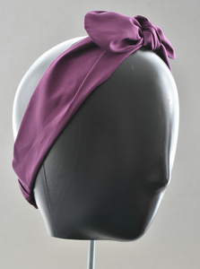 Ladies Tot Knot hairband - Liberty of London Aubergine Purple