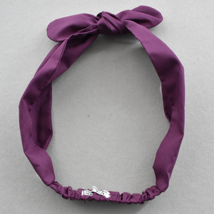 Kids Tot Knot Tie hairband - Liberty of London Aubergine Purple