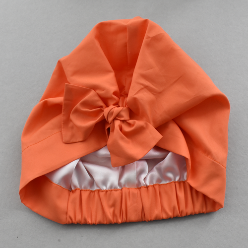 Little Land Girl Baby Hat - Liberty of London Tangerine Orange-Baby Turban Hat-Tot Knots of Brighton