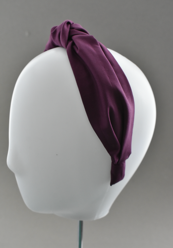 Ladies Tot Knot Alice band - Liberty of London Aubergine Purple-Adult hairband-Tot Knots of Brighton