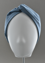 Ladies Twisted Turban Headband - Liberty of London Aviator Blue
