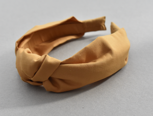 Kids Tot Knot Alice band - Liberty of London yellow mustard