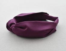 Kids Tot Knot Alice band - Liberty of London Aubergine Purple