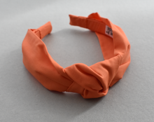 Kids Tot Knot Alice band - Liberty of London Tangerine Orange
