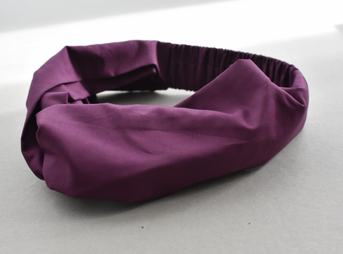 Kids Tot Knot Twisted hairband - Liberty of London Aubergine Purple
