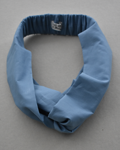 Kids Tot Knot Twisted hairband - Liberty of London Aviator Blue-Children hairband-Tot Knots of Brighton