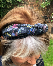 Ladies Tot Knot Alice band - Liberty of London Black Wild Flowers-Adult hairband-Tot Knots of Brighton