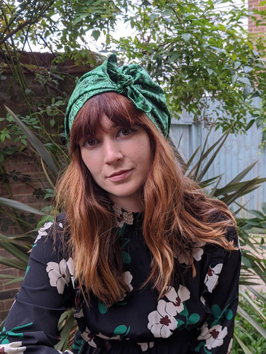 Ladies Turban Hat - Liberty of London Green Kit