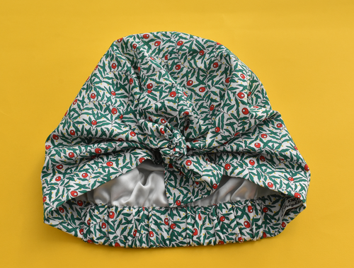 Little Land Girl Baby Turban Hat - Liberty of London Juniper Berry print-Baby Turban Hat-Tot Knots of Brighton