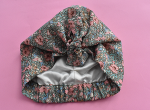 Little Land Girl & Baby Turban Hat - Limited Edition Vintage Fairies Liberty of London Lantana fabric