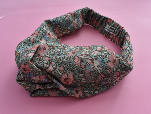 Kids Tot Knot Twisted hairband - Limited Edition Vintage Pink Fairies Liberty of London print