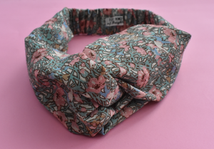 Kids Tot Knot Twisted hairband - Limited Edition Vintage Pink Fairies Liberty of London print-Children hairband-Tot Knots of Brighton