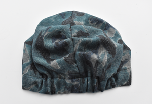 Little Land Girl & Baby Turban Hat - Liberty of London Navy and Denim Blue Sybil Campbell print