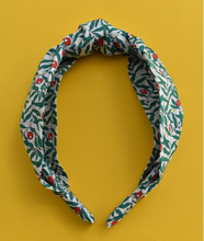 Ladies Tot Knot Alice band - Liberty of London Juniper Berry print-Adult hairband-Tot Knots of Brighton