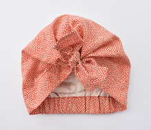 Little Land Girl Baby Turban Hat - Liberty of London Red Marco print