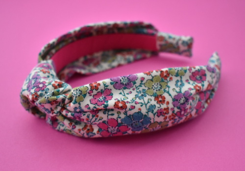 Ladies Knot Alice band - Liberty of London Bright Floral