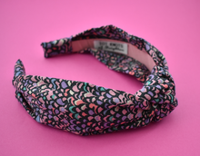Ladies Knot Alice band - Liberty of London Purple Feather Adriatic print