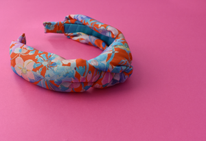 Luxury Silk Knot Alice band - Liberty of London Artist Spring Proposal crepe