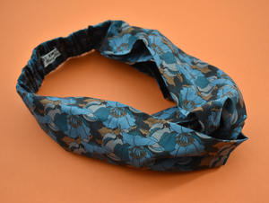 Twisted Turban Headband - Liberty of London Little Eustacia in Blue