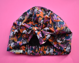 Ladies Turban Hat - Liberty of London Camo Flowers