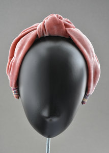 Classic Knot head band - Dusty Pink Silk Velvet