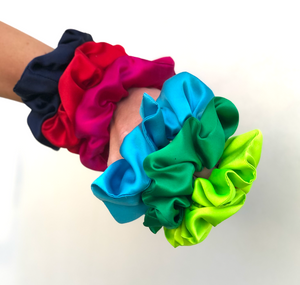 Pure Mulberry Silk Hair tie Scrunchies - various jewel colours