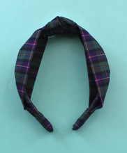 Ladies Tot Knot Alice band - Liberty of London Blue & Green Tartan
