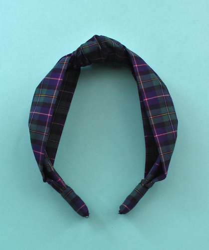 Kids Tot Knot Alice band - Liberty of London Purple & Green Tartan