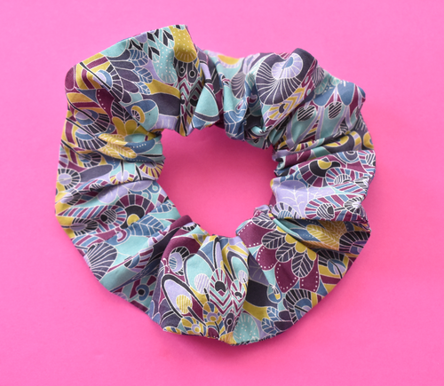 Scrunchie - Liberty of London Summer Eban Blue