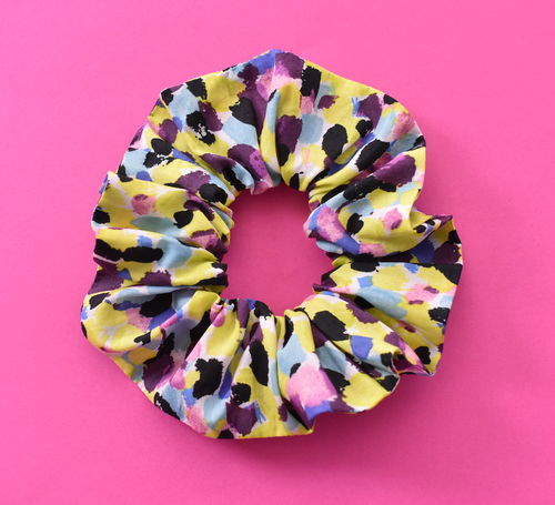 Scrunchie - Liberty of London Morning Dew in Yellow