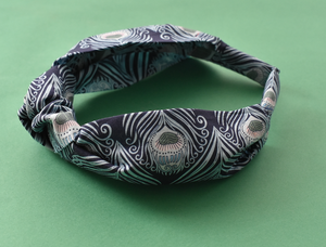 Ladies Knot Alice headband - Liberty of London Caesar Peacock Feather