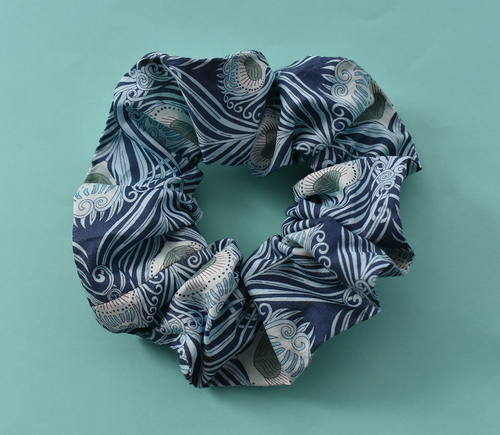 Scrunchie -  Liberty of London Caesar Peacock Feather
