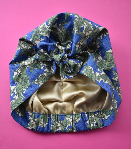 Ladies Turban Hat - Liberty of London Blue Anemone